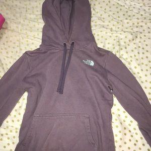 North Face light purple hoodie